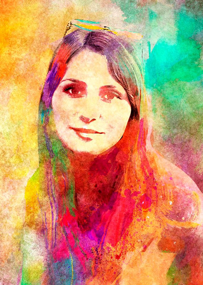 Гранж портрет по фото на заказ в студии печати Рафаэль