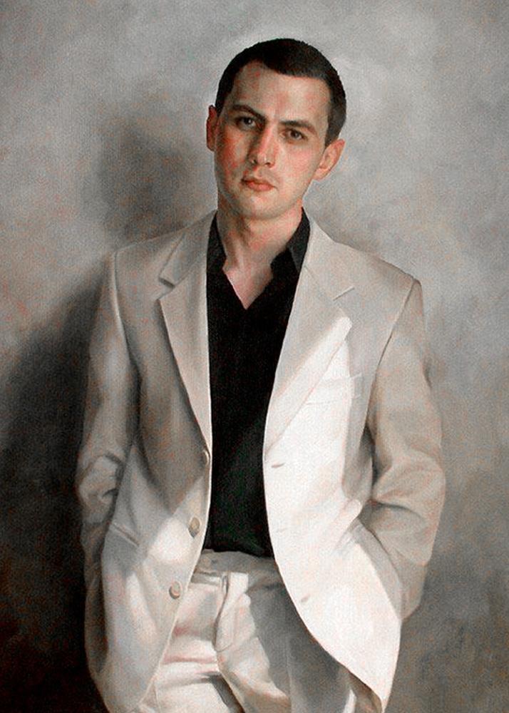 Мужской портрет стилизованный под масло