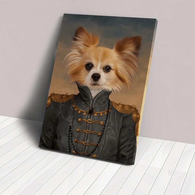 Заказать портрет животного в образе на холсте