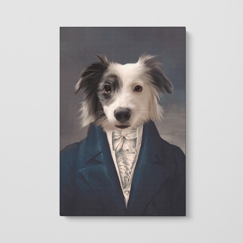 Портрет животного в образе лорда на заказ в Рафаэль студии